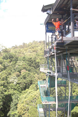 <p>熱帯雨林に囲まれたタワーは高さ50m! ビーチや熱帯雨林を見渡せる世界有数の絶景地にあります。 思ったより高いです〜。</p>