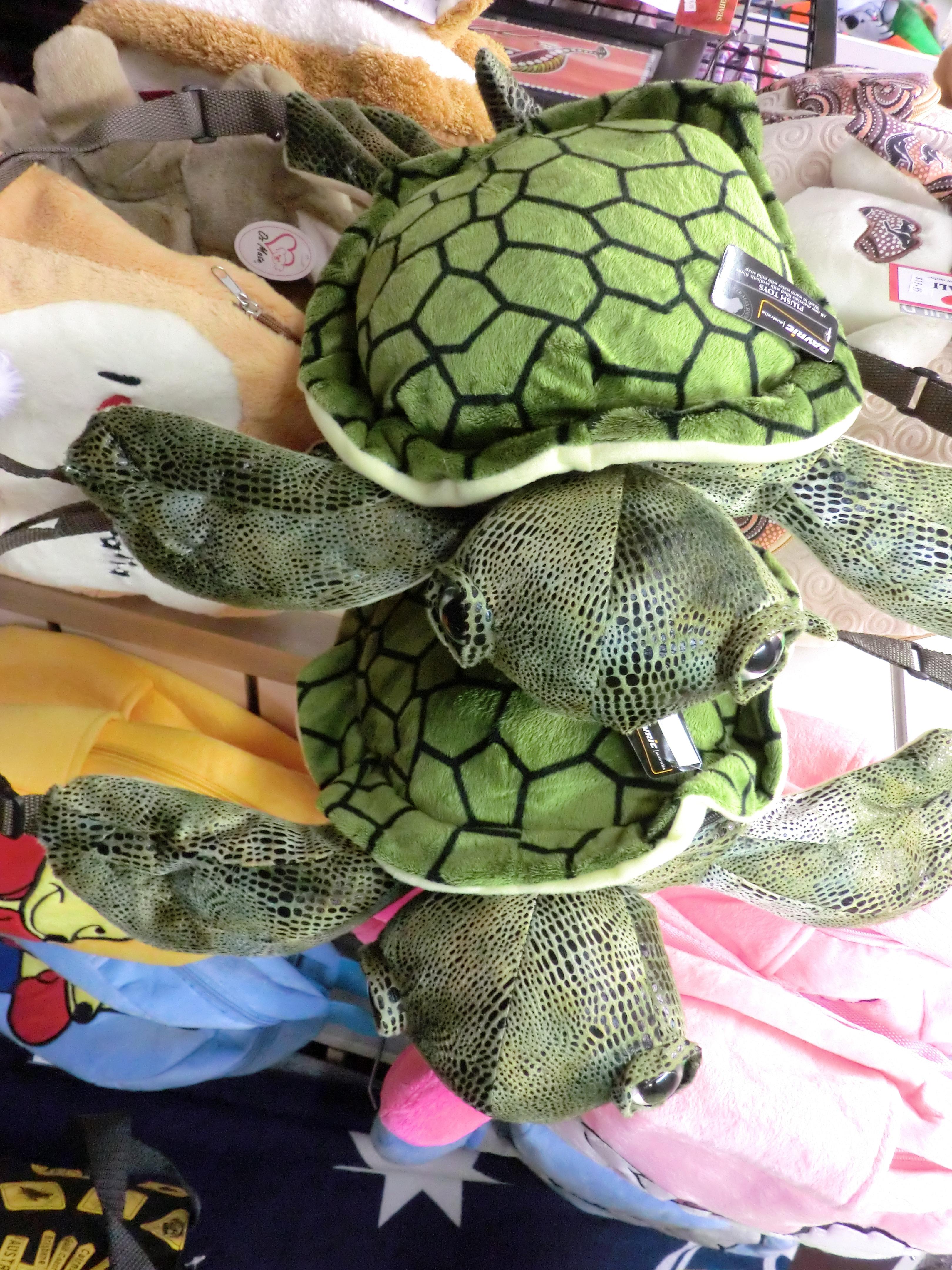 <p>オーストラリアにちなんだ動物などのかわいらしいぬいぐるみやかばんがあり、この亀の かばんは保育園時代にこんな感じの使ってたなぁとまた買いたくなってしまいました。 お店のスタッフさんもとてもフレンドリーでつい話に花が咲いてしまいました^^ Cairns関連商品: ケアンズ関連商品が店名の通り、とにかく豊富!</p>