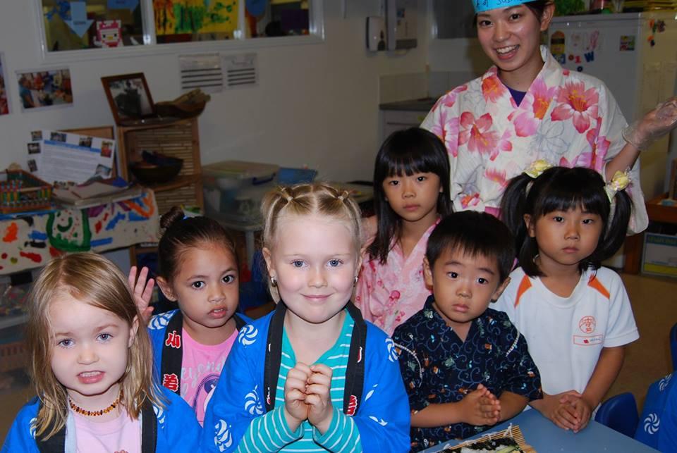 日本の幼稚園の園児がバタフライアーリーラーニング&チャイルドケアへ訪問