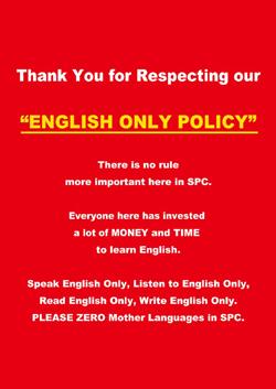 <p>万が一、母国語を話してしまった場合には、反省文を英語で書く徹底ぶり。 「本気で学びたい」という気持ちを第一に考えている証拠である。</p>