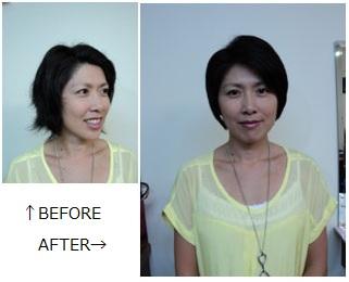 <p>仕上がりに大満足のアヤさん。「くせ毛も気にならない、思い通りのヘアスタイルになりました。」</p>