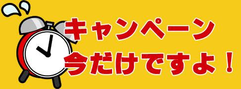 """【8月3日までですよ!】 期間限定 """"今だけキャンペーン!"""" !!"""