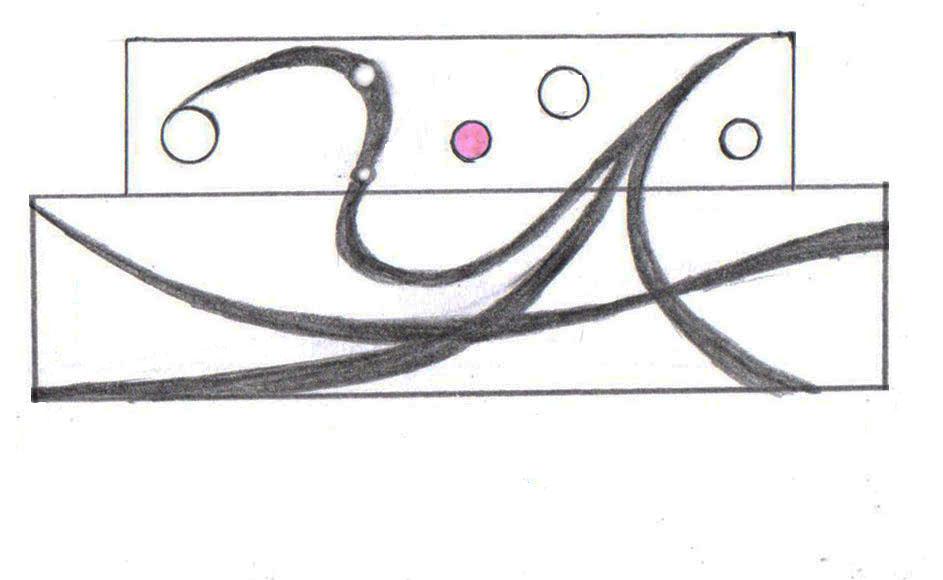 <p>結婚指輪のデザイン例 イニシャルYとAをモチーフにしたデザイン。</p>