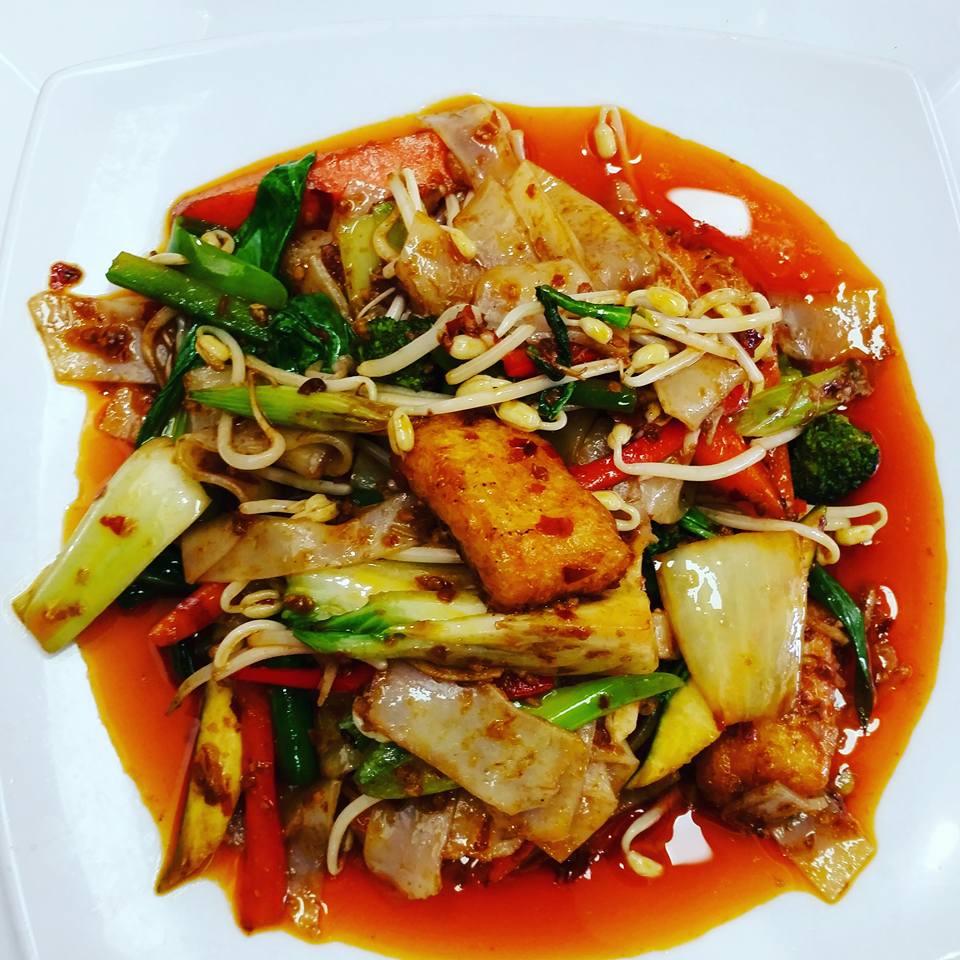 <p>野菜たっぷりChilli Tofu</p>