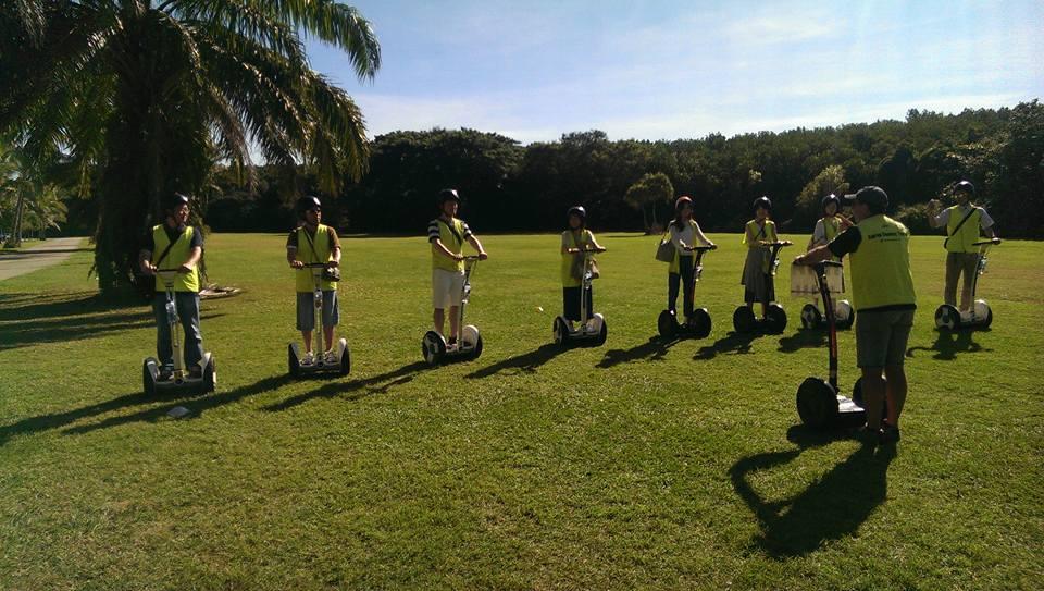 <p>出発前には芝生の上で練習できるから安心</p>