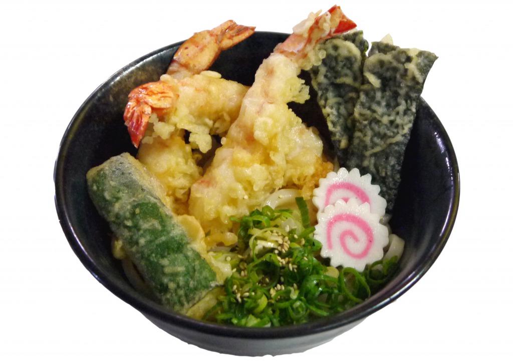 <p>大ぶりの海老が入った天ぷらうどん</p>