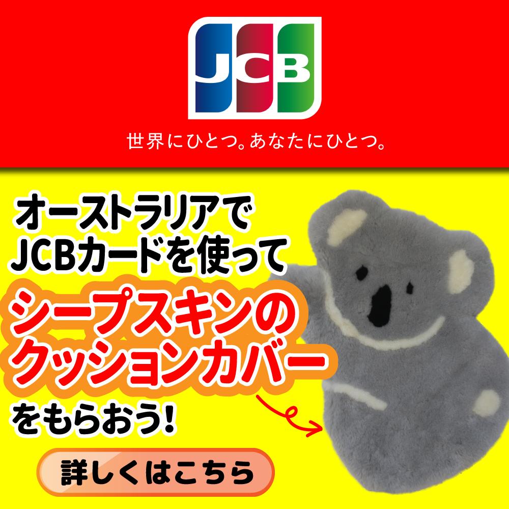 オーストラリアでJCBカードを使ってシープスキンのクッションカバーをもらおう!
