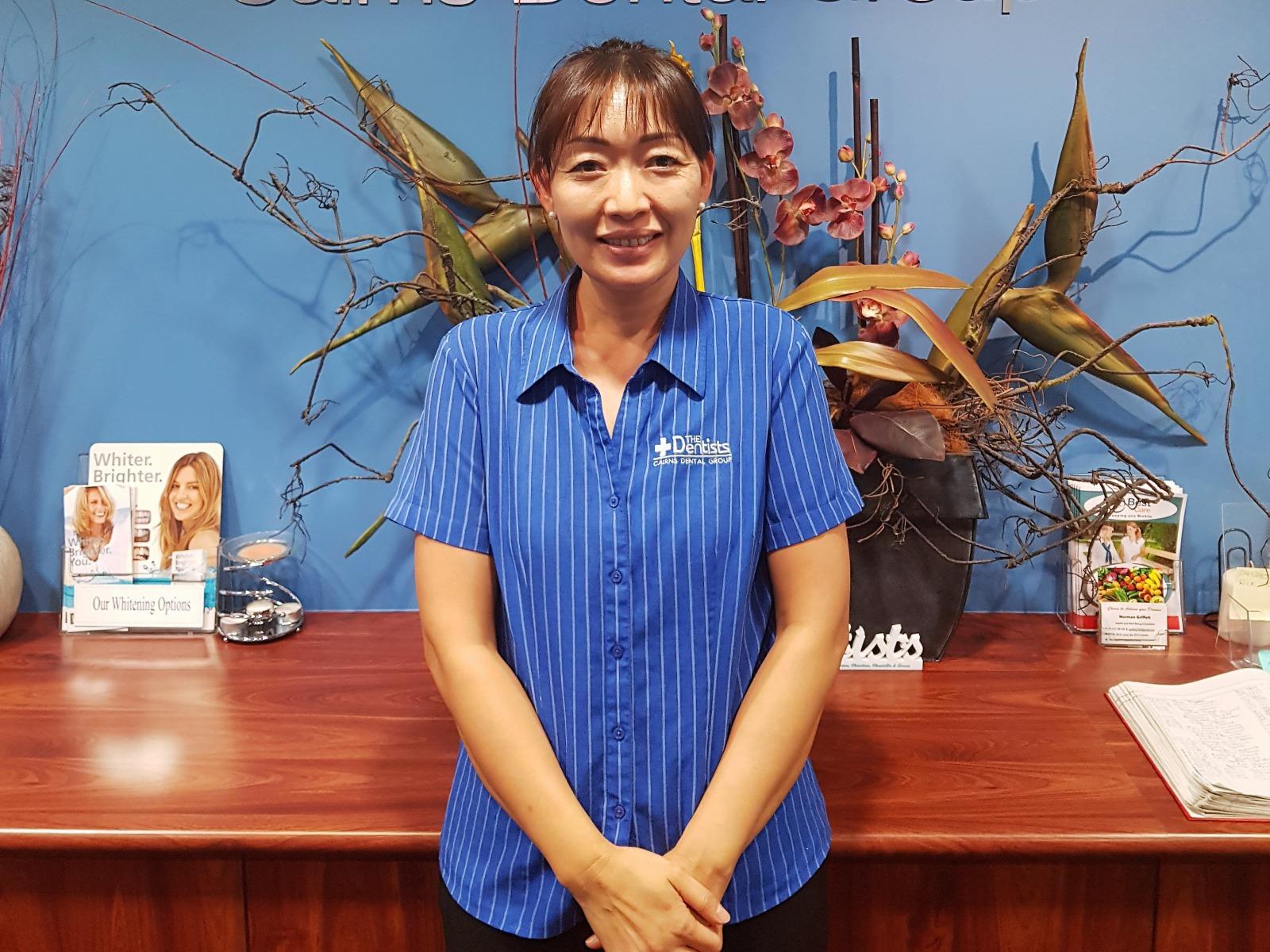 <p>日本人スタッフのMayumiさん</p>