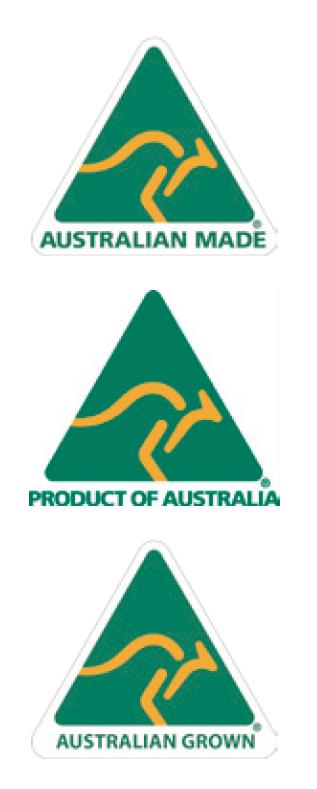 <p>オーストラリアで売っている多くのオーガニック商品などで見かけるカンガルーのロゴ。しかし、この3種類が同時に認可されているのは、本当に一握り、本物のオーガニック商品だけ。このファーム直売店では、最高品質のモリンガを取り扱っている証明です。上からオーストラリアで生産されているもの、オーストラリアで商品化されているもの、オーストラリアで収穫されたものを表すロゴです。</p>